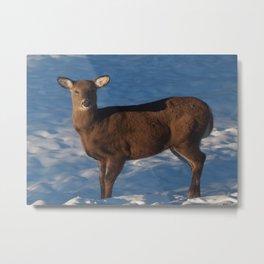 Deer poise Metal Print