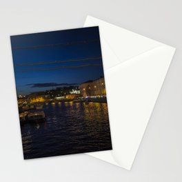 St. Petersburg Russia Nevsky prospect Canal Berth night time Cities Building Pier Night Marinas Houses Stationery Cards