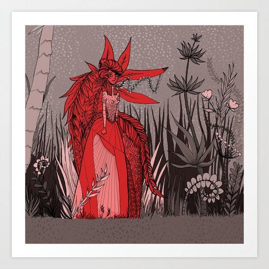 Woman Wolf 2 Art Print