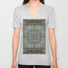 Modern Abstract Plaid Unisex V-Neck