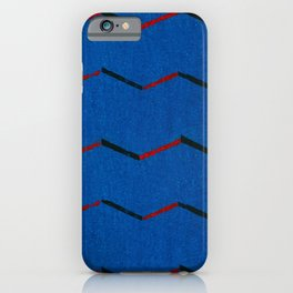 Vintage woodblock print of Japanese textile from Shima-Shima (1904) by Furuya Korin iPhone Case
