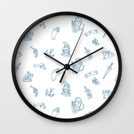 Retro Pattern  Wall Clock