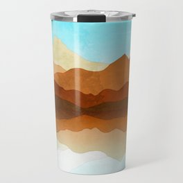 Western Sky Reflections In Watercolor Travel Mug