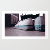 vans Art Prints featuring Vans by ScottHasPopsicles