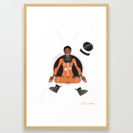 Mae Jemison: First Black Woman in Space Framed Art Print