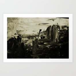 Paint me Black and white Art Print