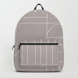Deco Geometric 04 Grey Backpack