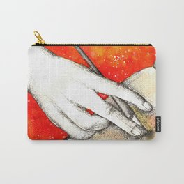 Inky hands11-Writing Carry-All Pouch