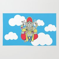 ganesh Area & Throw Rugs featuring Ganesh by thestalewhale