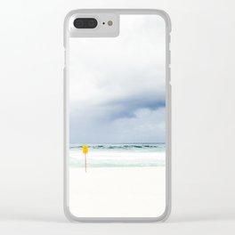 Beach closed Clear iPhone Case