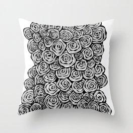 Spiral Doodle Throw Pillow