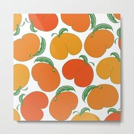Orange Peaches Butts Metal Print