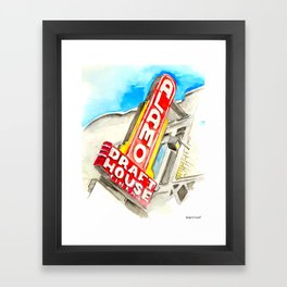 Alamo Drafthouse watercolor Framed Art Print