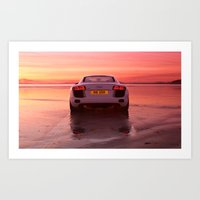 audi Art Prints featuring Audi R8 - Rear view by Rory Trappe