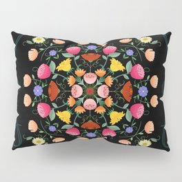 Folk Art Inspired Garden Of Fantastic Floral Delight Pillow Sham