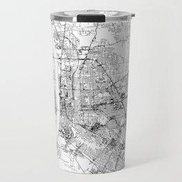Baton Rouge White Map Travel Mug