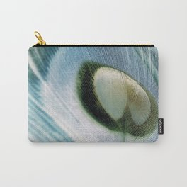 Peacock Feather Portrait Carry-All Pouch