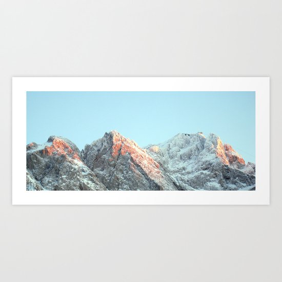 zugspitze mountain panorama, germany. Art Print