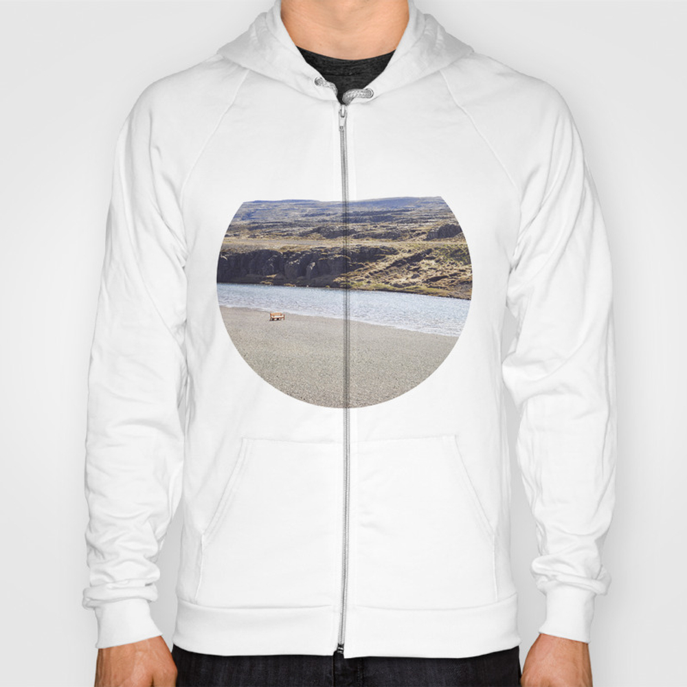In The Middle Of Nowhere, Iceland Hoody by Marabrioni SSR984963