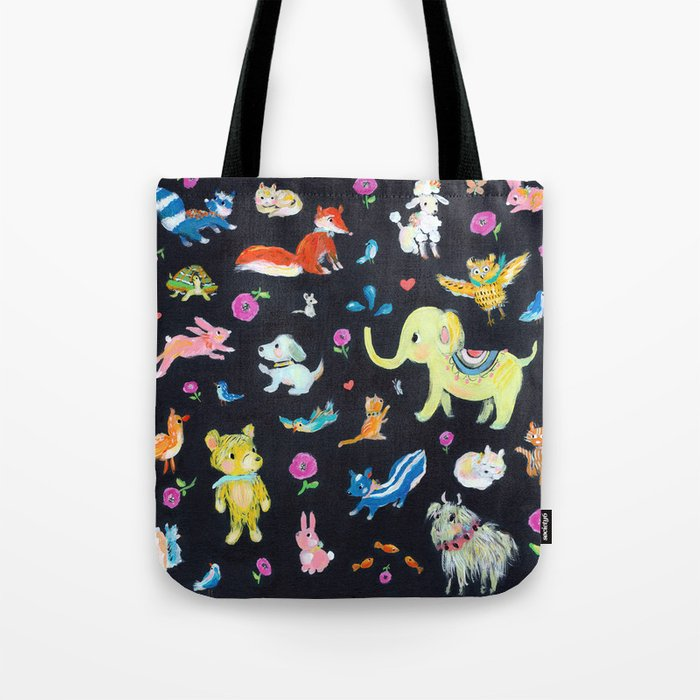 Colorful animals Tote Bag