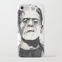 frankenstein iPhone & iPod Cases featuring Frankenstein by Jay Decastro