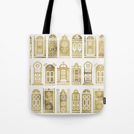 Moroccan Doors – Gold Palette Tote Bag