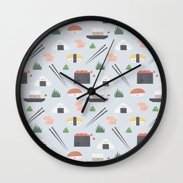 Happy Sushi Wall Clock