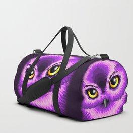 Pink Owl Eyes Duffle Bag