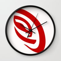 erotic Wall Clocks featuring Erotic Symbolism by IZ-Design
