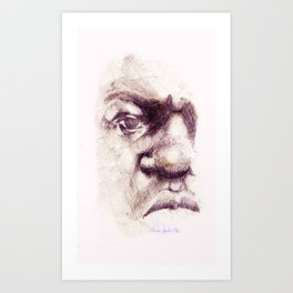 Big. Portrait of the Notorious Biggie Smalls. Christopher Wallace Art Print