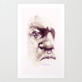 Big. Portrait of the Notorious Biggie Smalls. Christopher Wallace Art Print