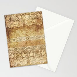 Vintage. The old lace. Vintage fabric . Stationery Cards