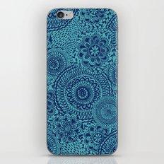 Tossed Blue mandalas iPhone Skin