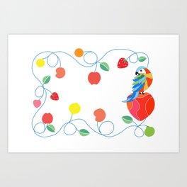 Kitchen hybrid macaw Art Print