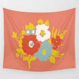 Coral Flora Wall Tapestry