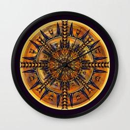 Hieroglyph Moth Mandala 3 Wall Clock
