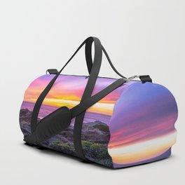 California Dreaming - Brilliant Sunset in Big Sur Duffle Bag