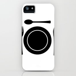 Metal Cutlery Plate Setting iPhone Case