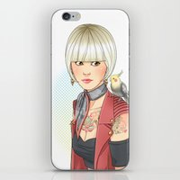 birdy iPhone & iPod Skins featuring Birdy by Lotty
