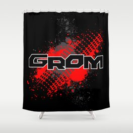 GROM, Red Shower Curtain