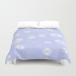White Spirals Duvet Cover
