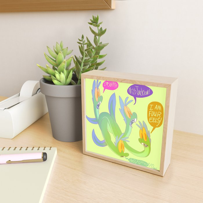 I Am Four Eels Framed Mini Art Print