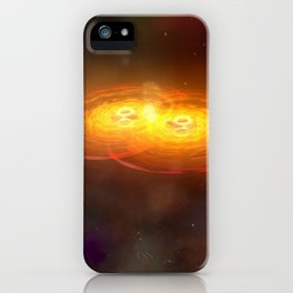A. Hobart - Merging of Two Galaxies with Two Central Black Holes (2002) iPhone Case