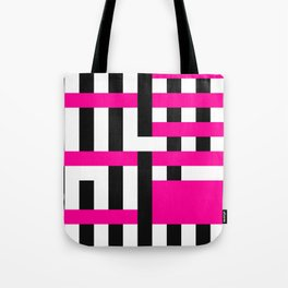 Licorice Bytes, No.18 in Black and Pink Tote Bag
