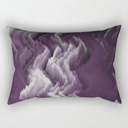 Purple, white, dark abstract. Rectangular Pillow