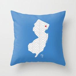 New Jersey Love Throw Pillow