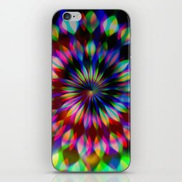 Psychedelic Rainbow Swirl iPhone Skin