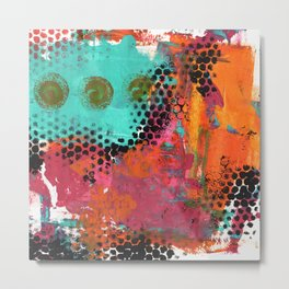 Original Abstract Grunge Painted  Art Metal Print
