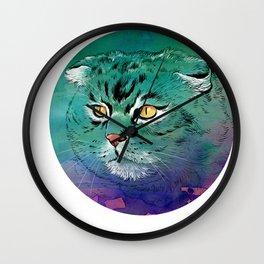 Cat Scottish Fold Wall Clock
