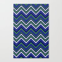 preppy Canvas Prints featuring Preppy Chevron by Jolene Ink